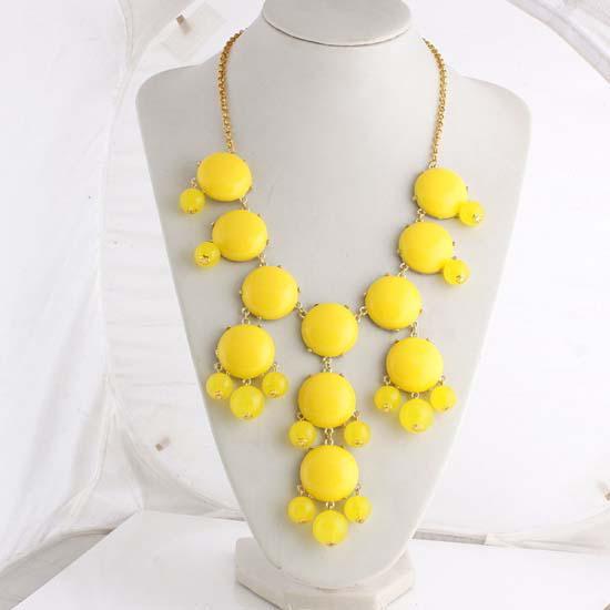 熱い販売の真新しい女性のバブルビブ声明のファッションチェーンのネックレス11色から選択送料無料