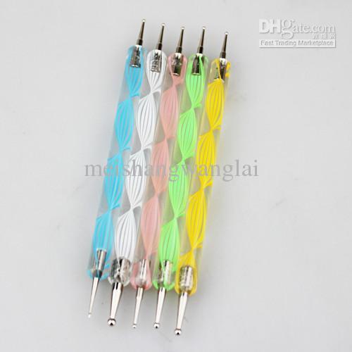 / partij Nail Art Paint Dot Draw Pen Borstel voor UV Gel DIY Decoratie Gereedschap