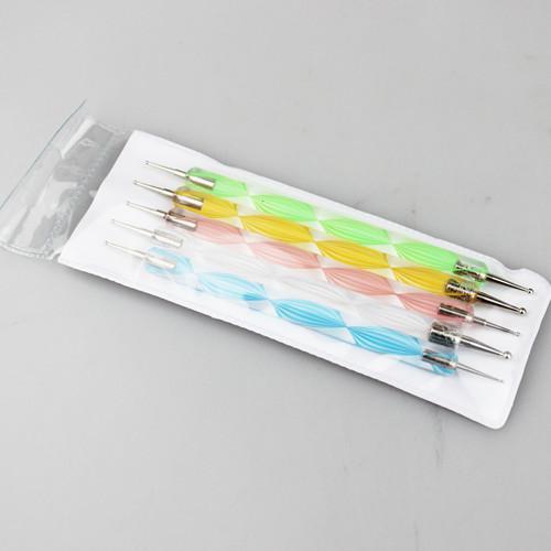 10 مجموعات / وحدة مسمار الفن الطلاء نقطة رسم القلم فرشاة ل uv gel diy أدوات الديكور