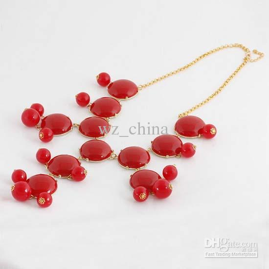 Christmas Jewelry New Women Resin Gem Bubble Bib Statement Necklace Mix Choice
