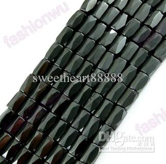 Mic Nya 500 st Black Magnetic Hematite 18 Facetted pärlor Metaller Alloy Loose Bead Smycken DIY
