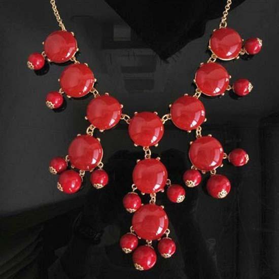 Neue Modeschmuck Verkauf neue Blase Bib Anweisung Halskette falschen Kragen Halskette