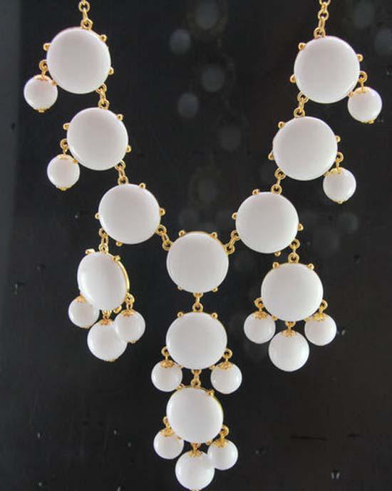 Nueva venta de joyería de moda Nuevo collar llamativo Bubble Bib Collar falso collar