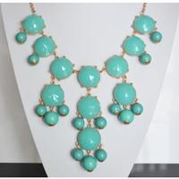 Wholesale Gold Bubble Necklace Wholesale - Fashion different Color New Women Jewelry Bubble Bib Statement Gold GP Necklace MILKY