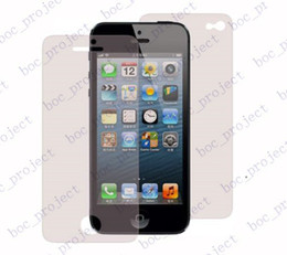 Wholesale Iphone 5c Screen Guard - clear Screen Protector Guard 1000 front + 1000 back for iPhone 6 6 plus 5 5s 5c no retail package 2000pcs