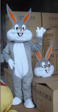 Grosses soldes! Bugs Adulte Lapin Costume De Mascotte En Peluche Personnage De Dessin Animé Fantaisie Produits Sur Mesure Taille Adulte