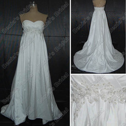 $enCountryForm.capitalKeyWord Canada - 2017 A-line Empire Pregnant Maternity Wedding Dresses Appliques Pearls Beaded Real Actual Images Bridal Gowns DB146