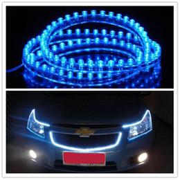 Wholesale Blue Interior Light Strip - Interior&External Lights Hot Sell! 12V 48cm 48 LED Flexible Waterproof Car Decorative Light Strip with multi-colors 30pcs