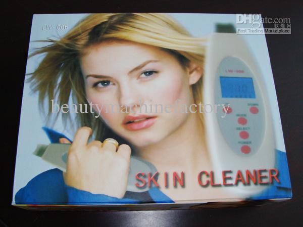 Purificador ultra-sônico portátil Multifuncional da pele mais limpo Massager LCD display 4 modos LW006