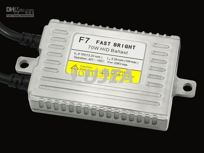 35W 55W 70W 75W F3 F5 F7 F7 F7 S7 X35 X55 Fast Bright Hid Slim Slim Ballasts Super voiture Headlight Ballasts 9-32V 12 24V Fast Fast Démarrage rapide Ballast