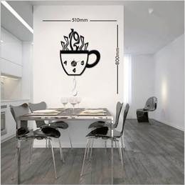 2019 copos de café do relógio de parede DIY copo de café criativo relógio de parede combinação, relógio de parede adesivo, moda, a atmosfera, cl parede desconto copos de café do relógio de parede