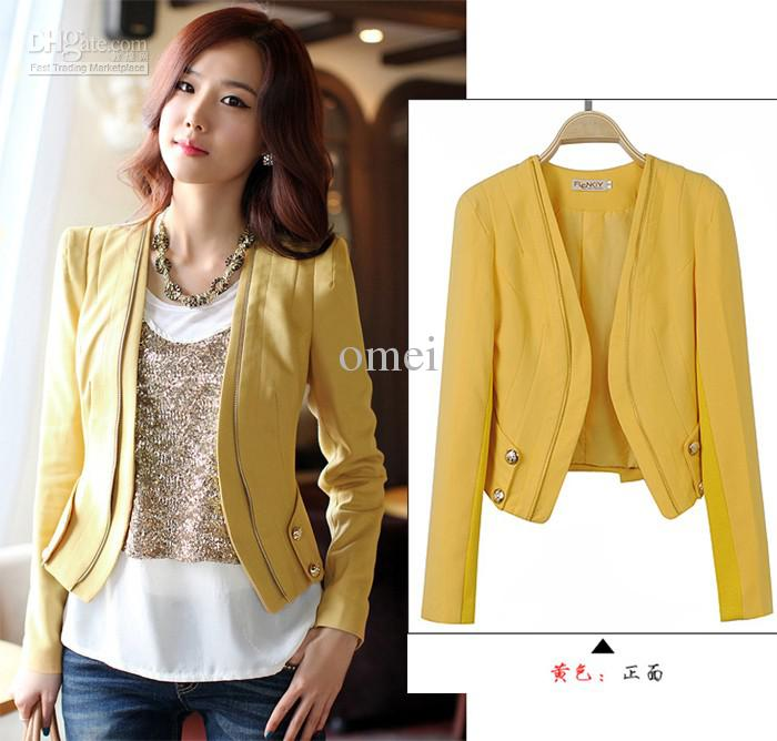 993h New Womens Bilayer Tunic Short Blazer Jacket Size:Fit 6 8 10 ...