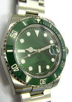 Wholesale Green Dress Watches - luxury BRAND men CERMAIC BEZEL mechanical watches automatic MOVEMENT 50TH ANNIVERSARY green dial mens dress stainless steel watches SB519