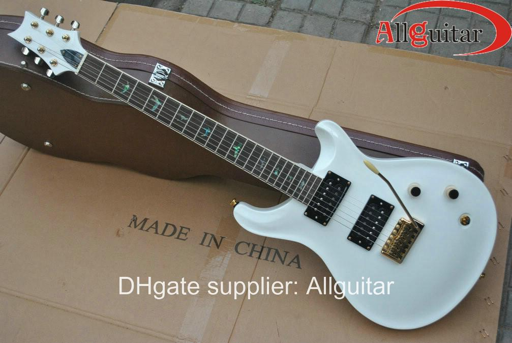 custom 22 white electric guitar birds inlay fret board china guitar hot sale house of guitars. Black Bedroom Furniture Sets. Home Design Ideas