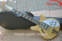 Wholesale Wooden Model Guitar - Model 370 12 Semi Hollow natural wooden electric guitar 12 strings China Guitar