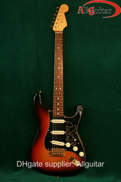 Wholesale Electric St Guitar Body - SRV Stevie Ray Vaughn Vintage Sunburst ST electric guitar China Guitar
