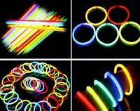 Wholesale Glow Fluorescent Light Sticks Bracelets - Christmas supplies Fluorescent bracelets,glow sticks,light sticks,LED toys,Party Supplies 100pc Lot