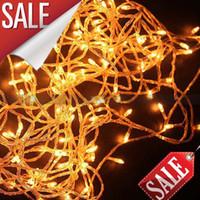 commander des lumières led achat en gros de-Min commande 8 couleurs 10M 100 LED String Lights flash light fête de Noël lampes de mariage fé
