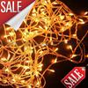 Min order 8 colors 10M 100 LED String Lights flash light Christmas party Fairy wedding lamps