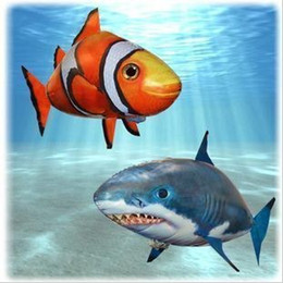 Wholesale New Air Swimmers - Air Swimmers Flying Shark InflatableToy Helium New Animal Planet Blimp RC toy Christmas gift