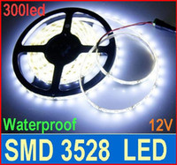 5M brillante 3528 SMD LED Strip Luz 60led / m flexible tira de luz LED 300LED impermeable jardín Hogar blanca 5m
