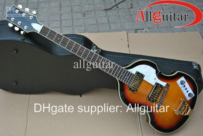 Guitarra Hofner Viola 6 cordas Vintage Sunburst Viola guitarra elétrica China Guitarra