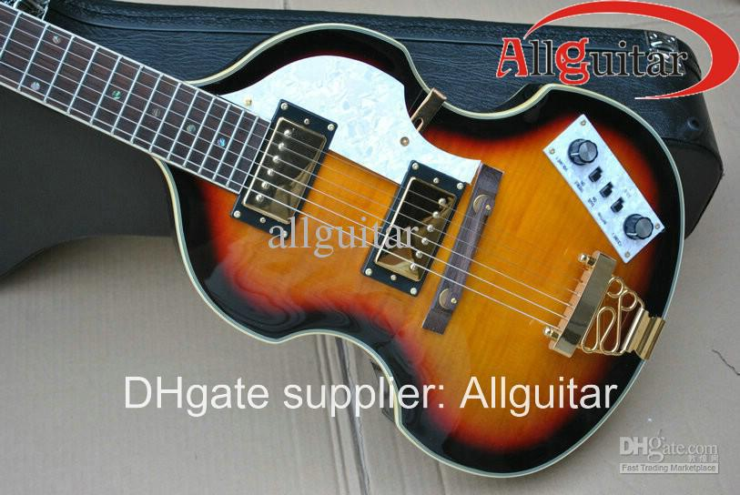Hofner viola gitarr 6 strängar vintage solburst viola elektrisk gitarr porslin gitarr