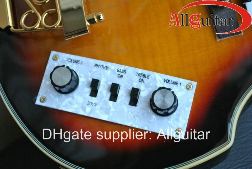 Hofner Viola Gitaar 6 Strings Vintage Sunburst Viola Elektrische Gitaar China Gitaar