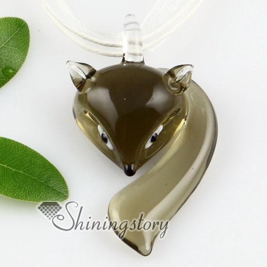Fox verre lampwork murano faits à la main pendentifs pour colliers Italie bijoux bijoux collier de bijoux de mode collier de mode Mup113