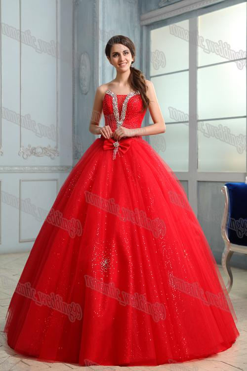 Romantic Actual Image China Red Wedding Dresses Sexy Ball Gown