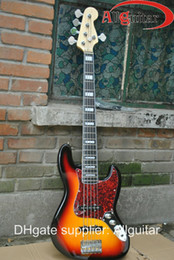Wholesale Sunburst Bass - 5 strings bass Vintage Sunburst JAZZ ebony fingerboard electric bass Guitar HOT SALE