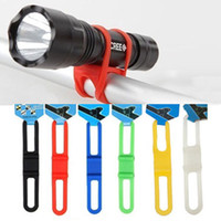 Wholesale Led Mounting Clip Wholesale - Bicycle Multi-function Silicone Strap Holder Mountain Bikes Flashlight Torch Mount Holder lamp clip