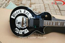 Wholesale Electric Guitar Skull - custom shop guitar Black Label Society Skull Logo Guitar electric guitar