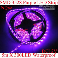 Hotting étanche IP65 Led Strip Violet 3528 60LEDs SMD / M 5M 300LEDs DC12V 24W bande flexible