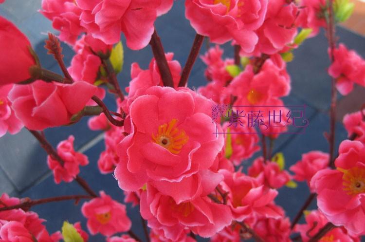 인공 꽃 실크 복숭아 꽃 복숭아 분기 가정 정원 가게 웨딩 장식