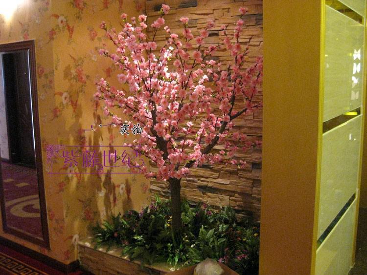 Flor artificial Flor de melocotón de seda Rama de melocotón tienda de jardín en casa decoración de la boda 100 unids 50 unids