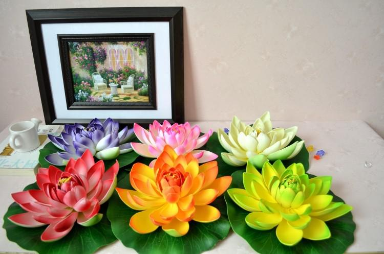 Home Decor Fake Flowers Part - 48: Artificial Flowers Silk Lotus Flower Floating Water Flower Fish Tank Home  Garden Decoration Accessories For The House Accessories Home From  Beltseller, ...
