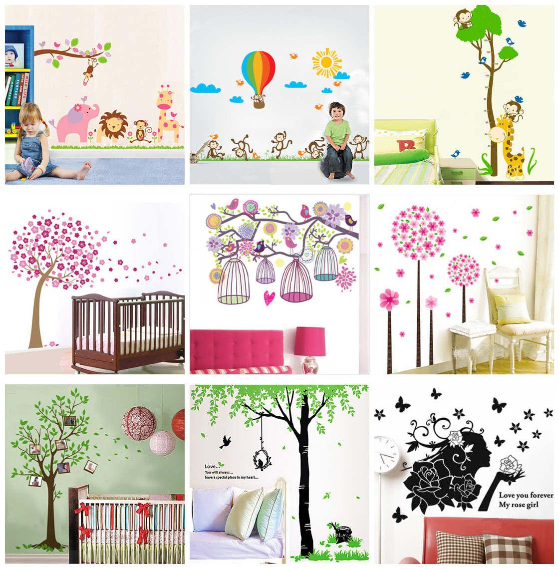 60x90cm removable wall stickers decals kids nursery wall decor mix order 60x90cm removable wall stickers decals kids nursery wall decor mural art home decoration