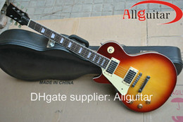 Wholesale Electric Guitar Left Hand - left handed Custom 1959 Reissue VOS sunburst electric guitar free shipping