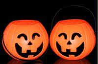 Wholesale Lighted Wholesale Halloween Buckets - Halloween supplies bar decoration small bend eye pumpkin bucket pumpkin pot pumpkin lights