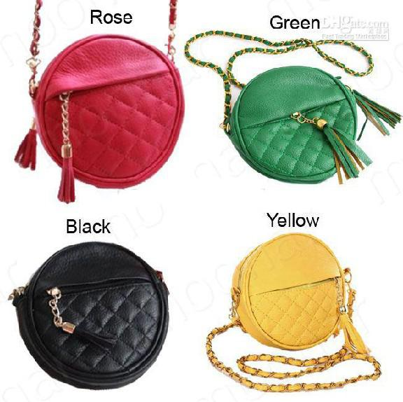 New Fashion Cute Korea Girl Small Fringe Check Chain Crossbody ...