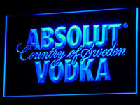 Wholesale Vodka Signs - a025 Absolut Vodka Country of Sweden Beer LED Neon Bar Sign Wholesale Dropshipping Free Shipping