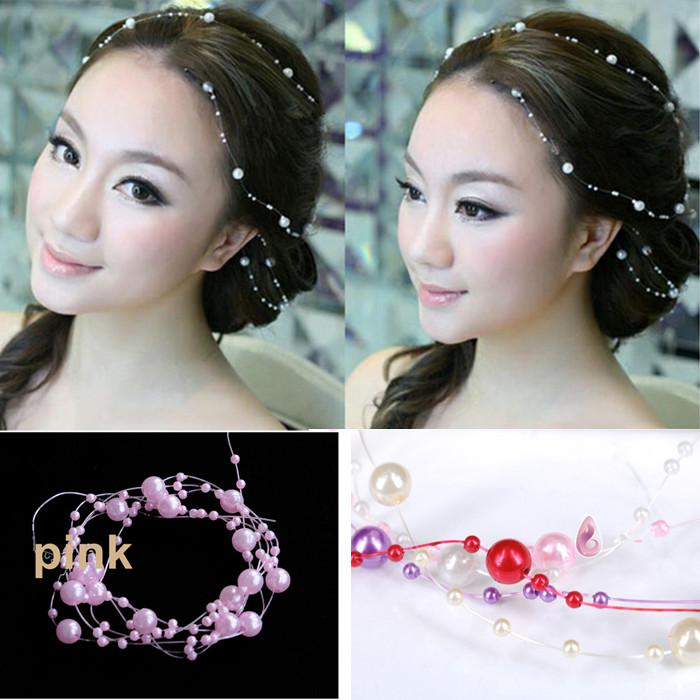 Online Shopping Artificial Pearl Hair Accessory Wedding Bridal Headpiece Party Decoration New Arrival Two Piece