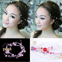 Wholesale Wholesaler Bridal Hair Pieces - Artificial Pearl Hair Accessory Wedding Bridal Headpiece Party Hair decoration Free shipping new arrival Two Piece a lot