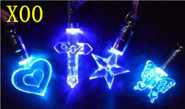 Wholesale Kids Necklaces Sale - 100 Pcs   Lot Free Shipping Hot Sales Acrylic LED Necklace Flashing Necklace Christmas gifts
