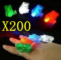 200pcs lot Christmas Gift Laser finger finger flashlights, L...