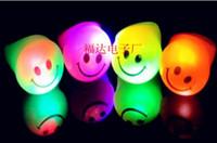 Smile face ring lights flashing rings soft gum LED Ring lumi...