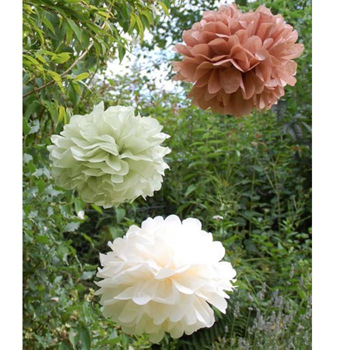 """8"""" Tissue Paper Pom Poms Flower Balls new year Christmas party Wedding party Deco"""