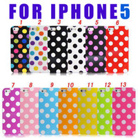 Wholesale Iphone5 Case Polka Dot - Soft Polka Dot Dots TPU Gel Case Cover Skin for iPhone 5 5G for iphone5