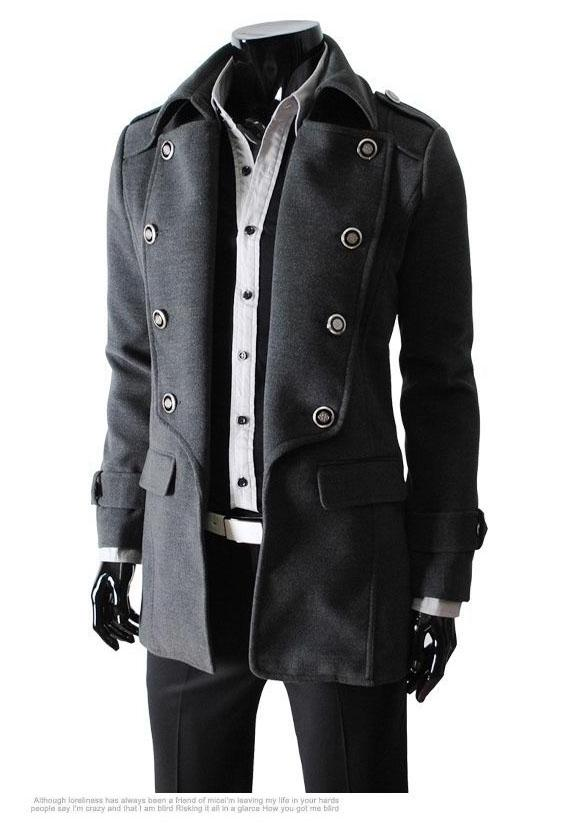 Popular Mens Trench Coats Classic Double Breasted Mens Trench Coat
